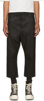 Rick Owens Black Cropped Astaires Jeans