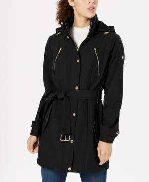 Michael Kors Michael Hooded Belted Raincoat, Created for Macy's