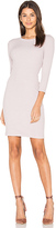 Enza Costa Rib 3/4 Sleeve Mini Dress in Blush. - size L (also in )