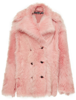 Rochas Double-Breasted Shearling Fur Coat