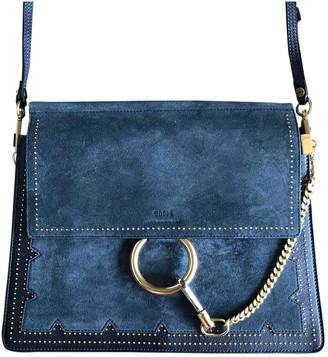 Chloã© ChloA Faye Navy Suede Handbags