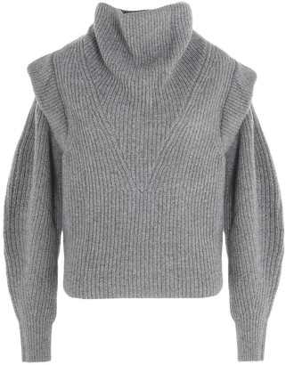Isabel Marant High-Neck Rib Knit Sweater