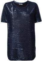 Dondup sequin embellished T-shirt - women - Polyamide/Polyester/Spandex/Elastane - L