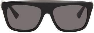 Bottega Veneta Black Rectangular Sunglasses