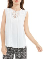 Vince Camuto Sleeveless Crochet Inset Blouse