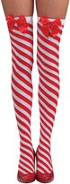 Rubie's Costume Co Rubie's Costume Women's Clausplay Candy Cane Striped Tights