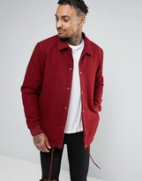 Asos Wool Mix Coach Jacket in Red