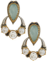 Konstantino Amphitrite Agate & Pearl Drop Earrings