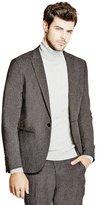 GUESS Men's Dunn Skinny Tweed Blazer