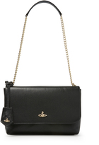 Vivienne Westwood Large Balmoral Bag With Flap 131203 in Black