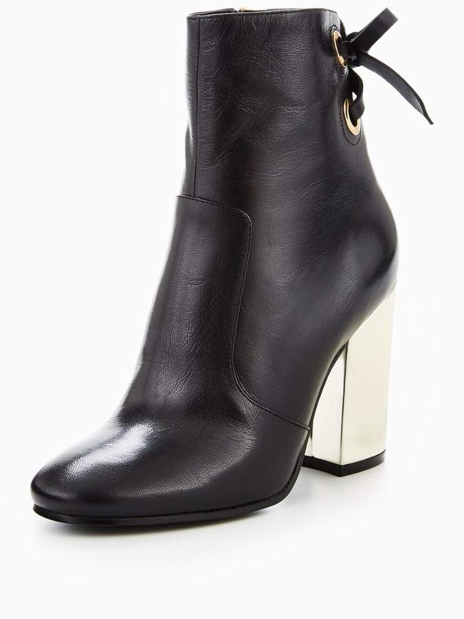 Nine West Chandice High Heel Boot With Lace & Eyelet Detail