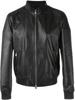 Corneliani leather jacket - men - Lamb Skin/Polyester - 50