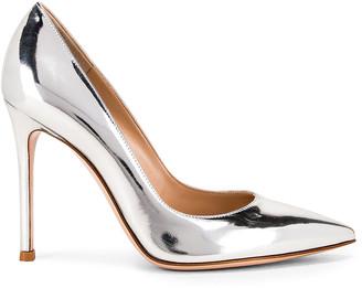 Gianvito Rossi Metal Gianvito Heels in Silver | FWRD