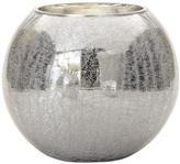 Torre & Tagus Crackle Mirror Sphere Vase/Candleholder