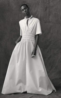 Maison Rabih Kayrouz Short Sleeve V Neckline Gown