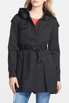 French Connection Detachable Hooded Trench Coat
