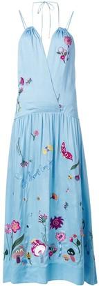 Mira Mikati Embroidered Halterneck Dress