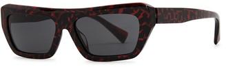 Alain Mikli Armitage Printed Rectangle-frame Sunglasses