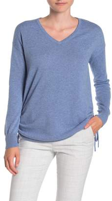 Sofia Cashmere Ruched Side Cashmere Sweater
