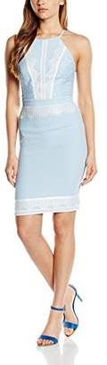 Lipsy Women's Lace Apron Halterneck Plain Sleeveless Dress