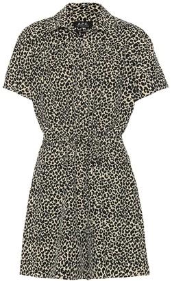A.P.C. Ursula leopard-print playsuit