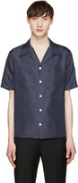 Valentino Navy Silk Shirt