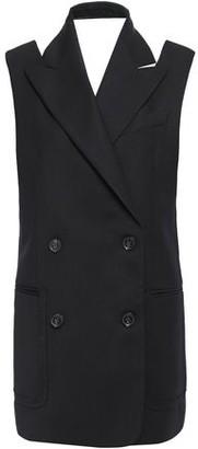 Proenza Schouler Double-breasted Cutout Wool-blend Gabardine Vest