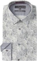 Ted Baker Leaf Print Balmy Modern Fit Dress Shirt