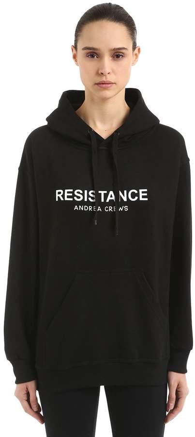 Andrea Crews Resistance Cotton Blend Sweatshirt