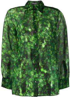 Dolce & Gabbana Clover Print Shirt