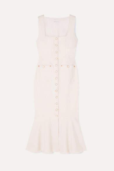 Alice McCall Like I Do Stretch-denim Dress - White