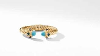 David Yurman Renaissance Bracelet In 18K Gold With Turquoise, Hampton