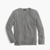 J.Crew Kids' cashmere cable crewneck sweater