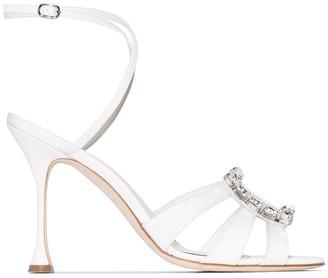 Manolo Blahnik Ticuna 105mm crystal sandals