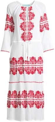 Melissa Odabash Lela Embroidered Cotton Gauze Caftan