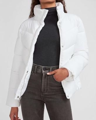 Express Zip Front Puffer Coat