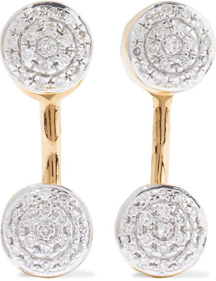 Monica Vinader 18-karat Gold Vermeil Diamond Earrings