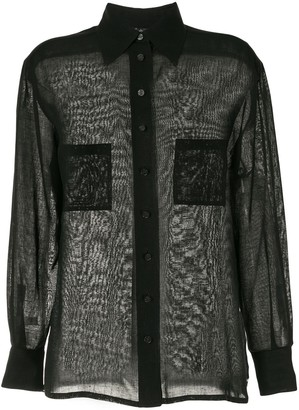 Chanel Pre Owned 1998 Sheer Linen Shirt