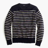 J.Crew Lambswool crewneck sweater in stripe
