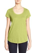 Eileen Fisher Women's Organic Cotton Scoop Neck Tee