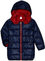Little Marc Jacobs Hooded Puffer Coat (Toddler/Kid) - Red/Blue - 4A