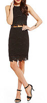 I.N. San Francisco Two-Piece Lace Sheath Dress