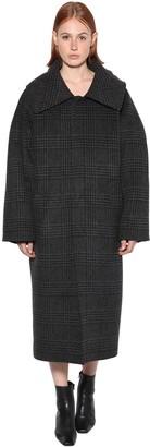 Balenciaga Oversize Prince Of Wales Coat