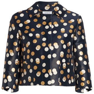 Akris Punto Metallic Polka Dot Jacket