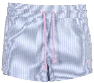 Champion Seersucker Shorts (Frontier Blue) Women's Shorts