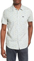 RVCA Men's Top Poppy Print Woven Shirt