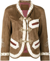 Gucci embroidered jacket - women - Cotton/Linen/Flax/Goat Skin/metal - 44
