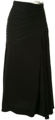 Mame Kurogouchi Asymmetric Layered Skirt