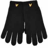 Lyle & Scott Racked Rib Gloves Black