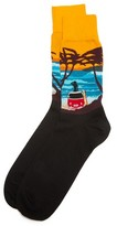 Corgi Beach Sunset Socks